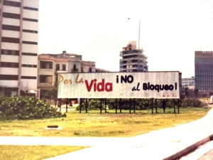 cuba blockade billboard